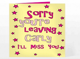 Saying sorry you're leaving