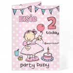 Bang on the Door Party Baby Age Card