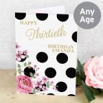 Floral Dot Card