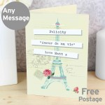 Vintage Pastel Travel Card