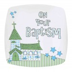 Blue Baptism Church Plate