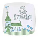 Blue Baptism Church Plate
