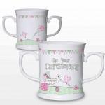 Whimsical Pram Christening Loving Mug