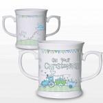 Whimsical Train Christening Loving Mug