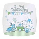 Whimsical Train Christening Plate