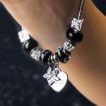 Butterfly & Heart Charm   - Galaxy - 21cm