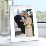 Silver 5x7 Decorative Mother & Father of the Bride Photo Frame