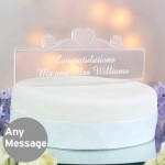 Acrylic Heart Swirl Cake Topper