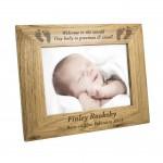 5x7 Baby Feet Wooden Photo Frame