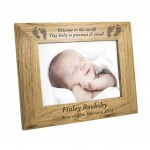 Landscape Baby Foot 6x4 Wooden Photo Frame