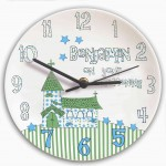 Church Boys Christening Clock