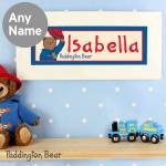 Paddington Bear Name Frame