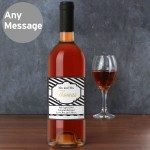 Art Deco Striped Rose Wine