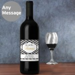 Art Deco Striped Red Wine