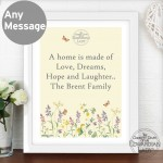 Country Diary Wild Flowers White Poster Frame