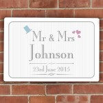 Decorative Wedding Mr & Mrs Plaque