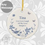 Country Diary Blue Blossom Round Ceramic Decoration