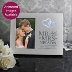 Hearts Mr & Mrs 6x4 Light Up Frame