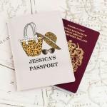 Leopard Print Cream Passport Holder