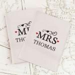 Mr & Mrs Cream Passport Holders