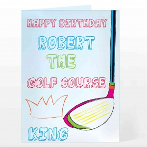 Golf Course King Card