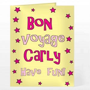Bon Voyage Pink Star Card