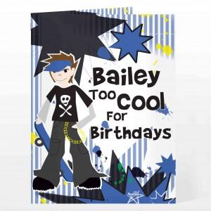Too Cool Boy Card