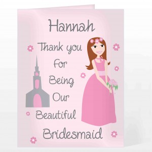 Fabulous Bridesmaid Card