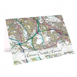 1805 - 1874 Present Day Map Card