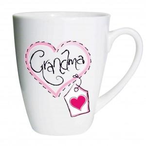 Grandma Heart Stitch Latte Mug