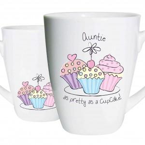 Auntie Trio Cupcake Latte Mug