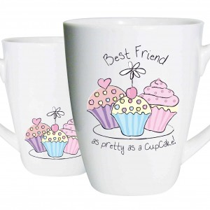 Best Friend Trio Cupcake Latte Mug