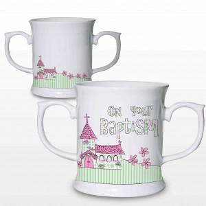 Baptism Pink Church Loving Mug