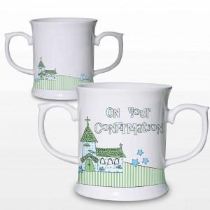 Blue Confirmation Church Loving Mug