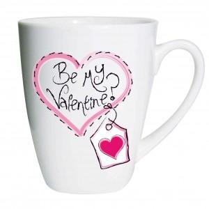 Heart Stitch Be My Valentine Latte Mug