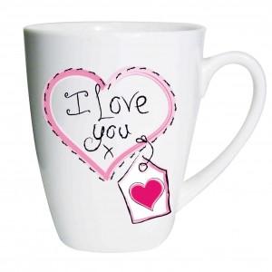Heart Stitch I Love You Latte Mug