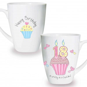 Cupcake 18th Birthday Latte Mug