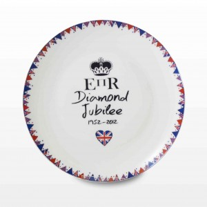 Diamond Jubilee Round Plate