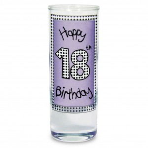 Lilac 18th Happy Birthday Shot Glass