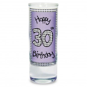 Lilac 30th Happy Birthday Shot Glass