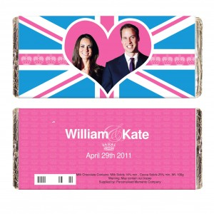 Royal Wedding Pink Union Jack Milk Chocolate Bar