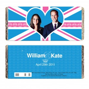 Royal Wedding Blue Union Jack Milk Chocolate Bar