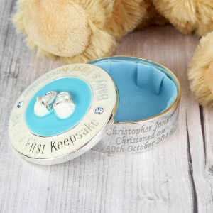Blue 1st Keepsake Box