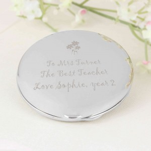 Flower Teachers Round Compact Mirror
