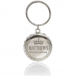 Crown Bottle Top Keyring