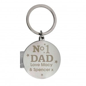 No1 Dad Photo Keyring