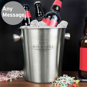 Decorative Stainless Steel Ice Bucket