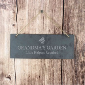 Flower Motif Hanging Slate Plaque