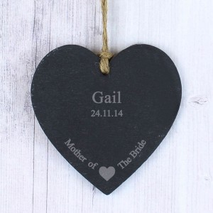 Mother Of The Bride Slate Heart Decoration