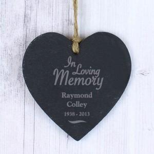 In Loving Memory Slate Heart